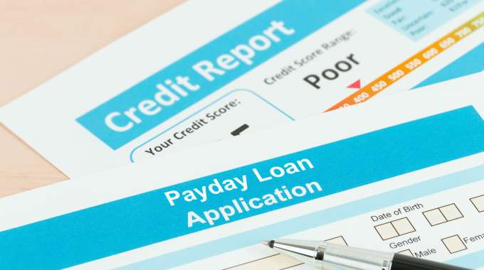 Credit report and payday loan application