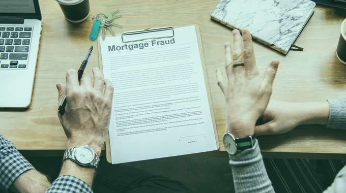 Mortgage Fraud on a piece of paper